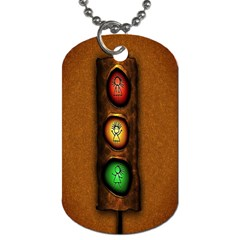 Traffic Light Green Red Yellow Dog Tag (one Side) by AnjaniArt