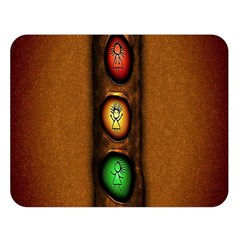 Traffic Light Green Red Yellow Double Sided Flano Blanket (large)  by AnjaniArt