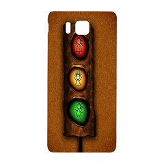 Traffic Light Green Red Yellow Samsung Galaxy Alpha Hardshell Back Case by AnjaniArt