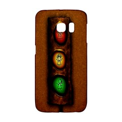 Traffic Light Green Red Yellow Galaxy S6 Edge by AnjaniArt
