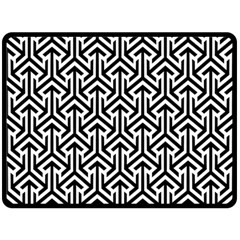 Tramas On Pinterest Geometric Patterns Fleece Blanket (large)  by AnjaniArt