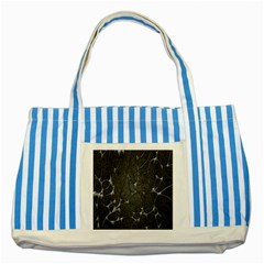 Texture Network Striped Blue Tote Bag by AnjaniArt
