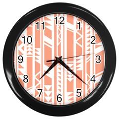 Tribal Pattern Wall Clocks (black) by AnjaniArt