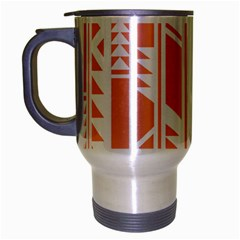 Tribal Pattern Travel Mug (silver Gray) by AnjaniArt