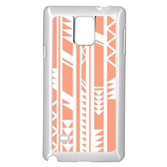 Tribal Pattern Samsung Galaxy Note 4 Case (white) by AnjaniArt