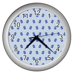 Tumblr Cute Tardis Wall Clocks (silver)  by AnjaniArt