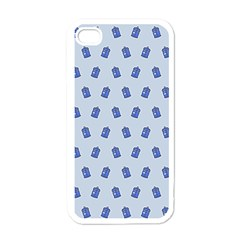 Tumblr Cute Tardis Apple Iphone 4 Case (white) by AnjaniArt