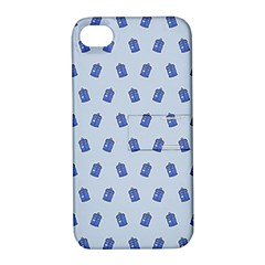 Tumblr Cute Tardis Apple Iphone 4/4s Hardshell Case With Stand by AnjaniArt