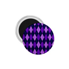 Tumblr Static Argyle Pattern Blue Purple 1 75  Magnets by AnjaniArt