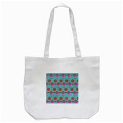 Tulips Floral Flower Tote Bag (white) by AnjaniArt