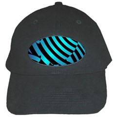 Turtle Swimming Black Blue Sea Black Cap by AnjaniArt