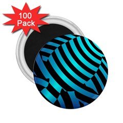 Turtle Swimming Black Blue Sea 2 25  Magnets (100 Pack)  by AnjaniArt