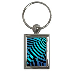 Turtle Swimming Black Blue Sea Key Chains (rectangle)  by AnjaniArt