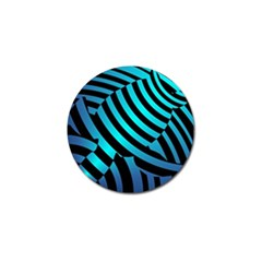 Turtle Swimming Black Blue Sea Golf Ball Marker (10 Pack) by AnjaniArt