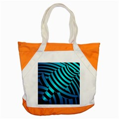 Turtle Swimming Black Blue Sea Accent Tote Bag by AnjaniArt
