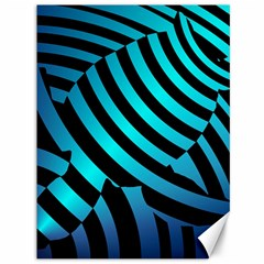 Turtle Swimming Black Blue Sea Canvas 36  X 48   by AnjaniArt