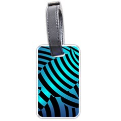Turtle Swimming Black Blue Sea Luggage Tags (one Side)  by AnjaniArt