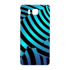 Turtle Swimming Black Blue Sea Samsung Galaxy Alpha Hardshell Back Case by AnjaniArt