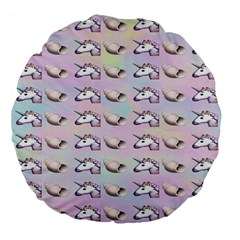 Tumblr Unicorns Large 18  Premium Flano Round Cushions