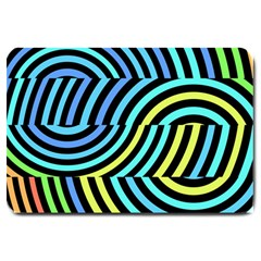 Twin Tunnels Visual Illusion Casino Art Large Doormat  by AnjaniArt