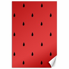 Watermelon Seeds Red Canvas 20  X 30   by AnjaniArt