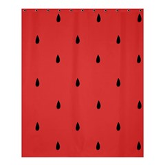 Watermelon Seeds Red Shower Curtain 60  X 72  (medium)  by AnjaniArt