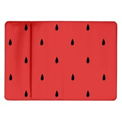 Watermelon Seeds Red Samsung Galaxy Tab 10 1  P7500 Flip Case by AnjaniArt
