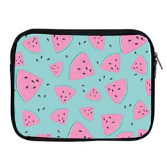 Watermelon Red Blue Apple Ipad 2/3/4 Zipper Cases by AnjaniArt