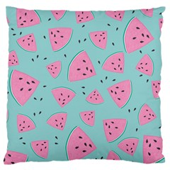 Watermelon Red Blue Standard Flano Cushion Case (one Side) by AnjaniArt