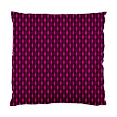 Webbing Woven Bamboo Pink Standard Cushion Case (one Side) by AnjaniArt