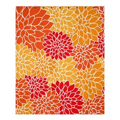 Vintage Floral Flower Red Orange Yellow Shower Curtain 60  X 72  (medium)  by AnjaniArt