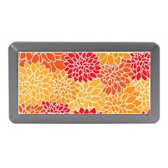 Vintage Floral Flower Red Orange Yellow Memory Card Reader (mini) by AnjaniArt