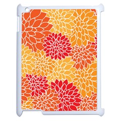 Vintage Floral Flower Red Orange Yellow Apple Ipad 2 Case (white) by AnjaniArt