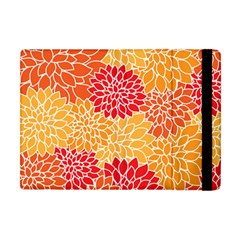 Vintage Floral Flower Red Orange Yellow Apple Ipad Mini Flip Case by AnjaniArt