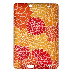 Vintage Floral Flower Red Orange Yellow Amazon Kindle Fire Hd (2013) Hardshell Case by AnjaniArt