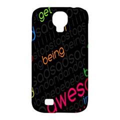 Words Jpeg Samsung Galaxy S4 Classic Hardshell Case (pc+silicone) by AnjaniArt