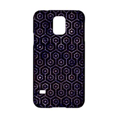 Hexagon1 Black Marble & Purple Marble Samsung Galaxy S5 Hardshell Case  by trendistuff