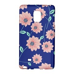 Seamless Blue Floral Galaxy Note Edge by AnjaniArt