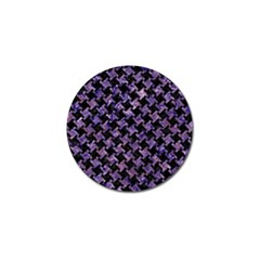 Houndstooth2 Black Marble & Purple Marble Golf Ball Marker (10 Pack) by trendistuff