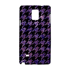 Houndstooth1 Black Marble & Purple Marble Samsung Galaxy Note 4 Hardshell Case by trendistuff