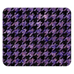 Houndstooth1 Black Marble & Purple Marble Double Sided Flano Blanket (small) by trendistuff