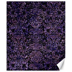 Damask2 Black Marble & Purple Marble Canvas 20  X 24  by trendistuff