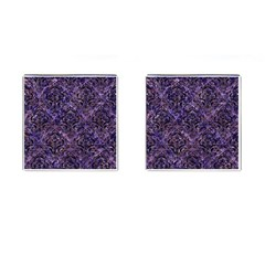 Damask1 Black Marble & Purple Marble (r) Cufflinks (square) by trendistuff