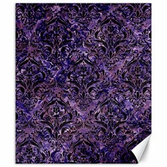 Damask1 Black Marble & Purple Marble (r) Canvas 20  X 24  by trendistuff