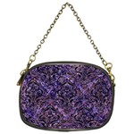 DAMASK1 BLACK MARBLE & PURPLE MARBLE (R) Chain Purse (One Side) Front
