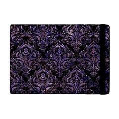 Damask1 Black Marble & Purple Marble Apple Ipad Mini Flip Case by trendistuff