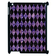 Diamond1 Black Marble & Purple Marble Apple Ipad 2 Case (black) by trendistuff