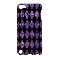 Diamond1 Black Marble & Purple Marble Apple Ipod Touch 5 Hardshell Case by trendistuff