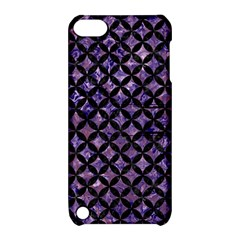 Circles3 Black Marble & Purple Marble (r) Apple Ipod Touch 5 Hardshell Case With Stand by trendistuff