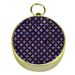 Circles3 Black Marble & Purple Marble (r) Gold Compass